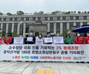 노동당 녹색당 미래당 변혁당 진보당, 3% 봉쇄조항 헌법소원심판 신청